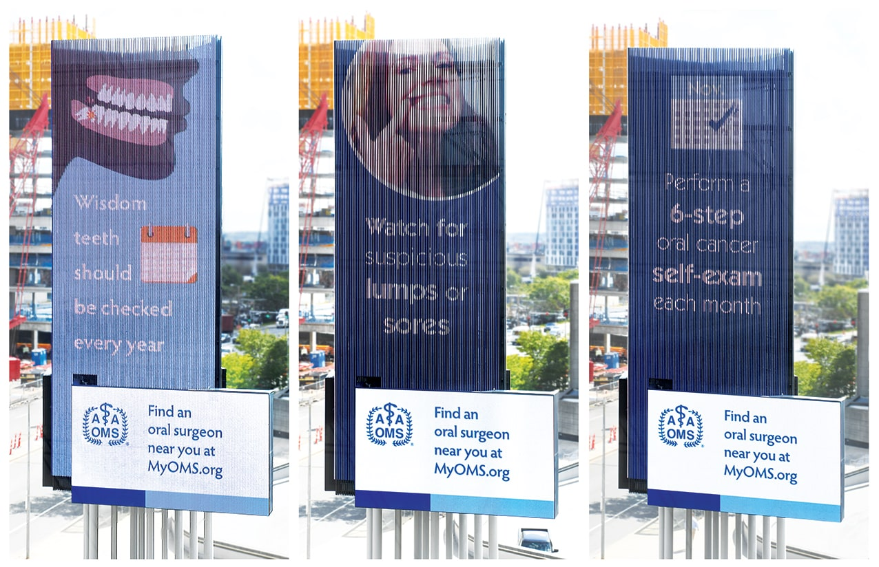 Our design and animations being shown on outdoor displays.